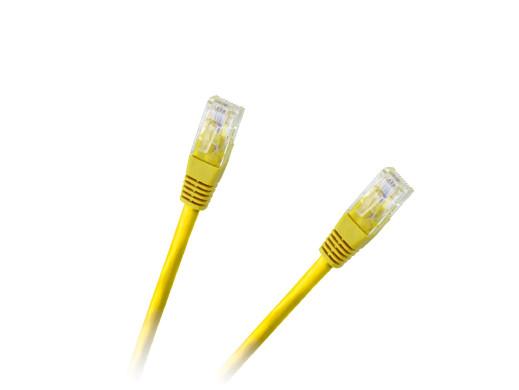 Patchcord kabel UTP 8c wtyk-wtyk 1,5m CCA żółty cat.6e