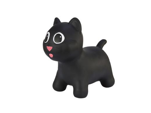 Gumowy skoczek Hoppimals kotek czarny + pompka