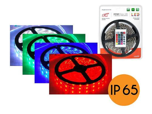 Zestaw sznura LED RGB 5050 300led 5m ze sterownikiem i zasilaczem IP65 72W