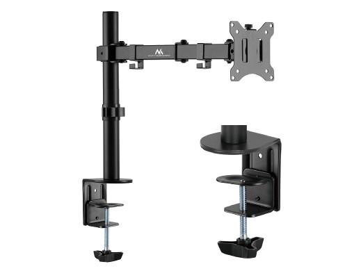 """Uchwyt Maclean, Biurkowy do monitora LCD, Podwójne ramię, Vesa 75x75 oraz 100x100, 17-32"""", 8kg, MC-883"""