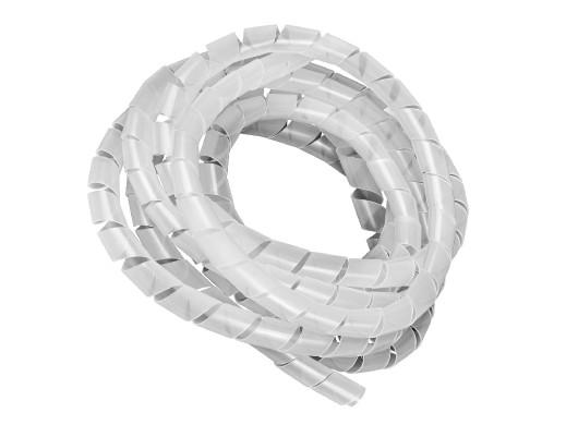 Osłona na kable Maclean, Maskująca, (14.6*16mm), 3m, Transparentna spirala, MCTV-686T