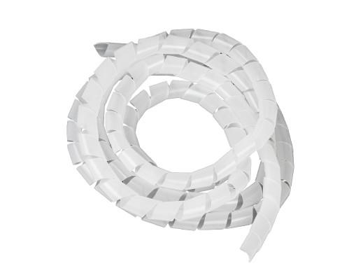 Osłona maskująca na kable Maclean MCTV-687T  (20.4*22mm) 3m transparentna spirala