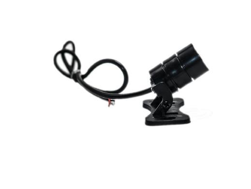 Laser 12V liniowy moc: 5mW 650nm czerwony wymiary: Długość:26mm Średnica: 17mm  Długość przewodów: 20cm