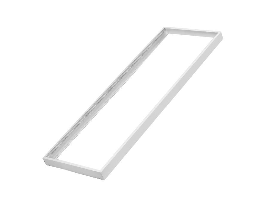 Rama natynkowa dla paneli Maclean LED sufitowych Energy o wymiarach 1195 x 295 mm wysokość 5cm aluminiowa biała  MCE542
