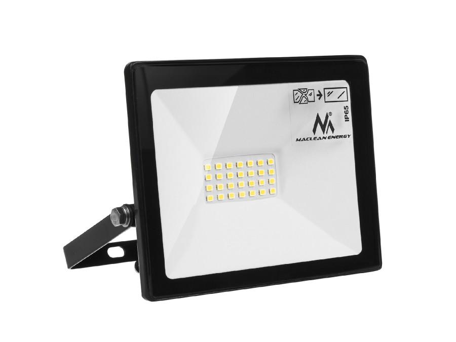 Naświetlacz LED Maclean, Slim 20W, 1600lm Cold White (6000K), IP65, CW, PREMIUM, MCE520