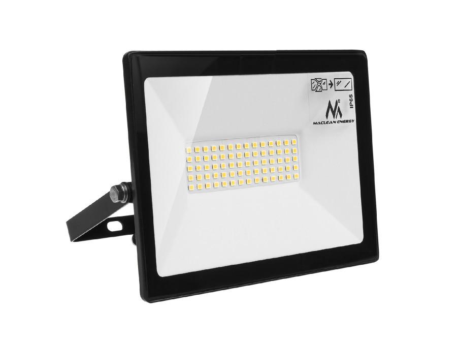 Naświetlacz LED slim 50W, 4000lm Warm White (3000K) Maclean Energy  MCE550 WW, IP65, PREMIUM