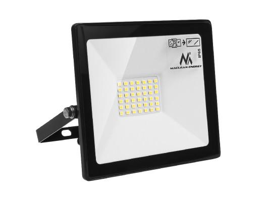 Naświetlacz LED Maclean, Slim 30W, 2400lm Cold White (6000K), IP65, CW, PREMIUM, MCE530
