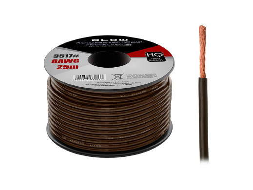 Kabel power 8AWG cca czarny...