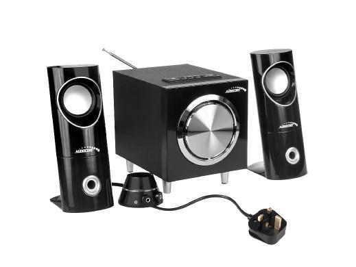 Zestaw głośników Bluetooth 2.1 Audiocore AC790 radio FM, wejście kart SD/MMC, AUX, USB, wersja UK