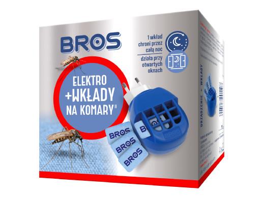 Urządzenie + 10 wkładów Bros Elektro na komary
