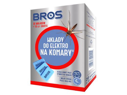 Zestaw 20 wkładów do Bros Elektro na komary