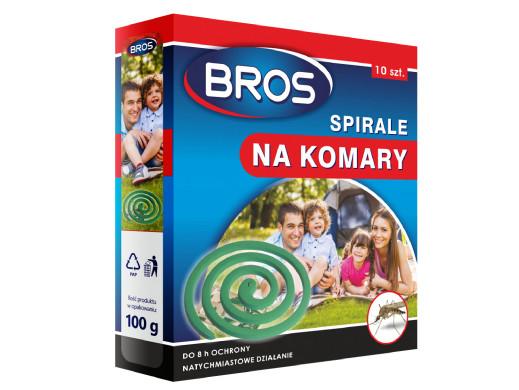 Zestaw 10 spiral na komary Bros