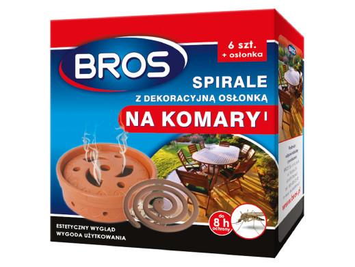Zestaw 6 spiral na komary z osłonką  Bros