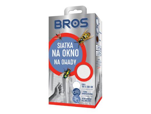 Siatka na okno przeciw owadom Bros 150x180 biała