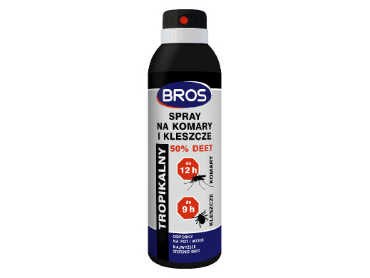 Spray na komary i kleszcze 50% DEET Bros 180ml