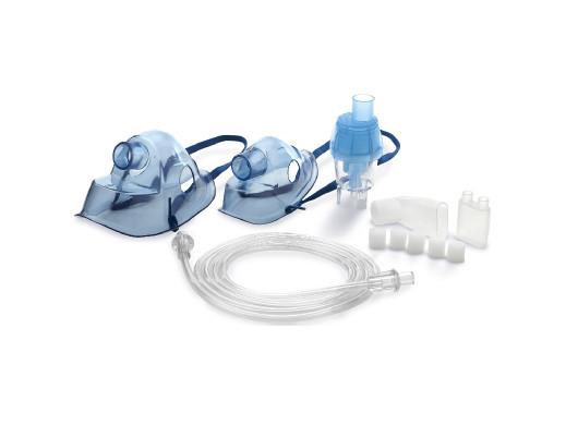 Zestaw masek i akcesoriów do inhalatorów Omnibus niebieski