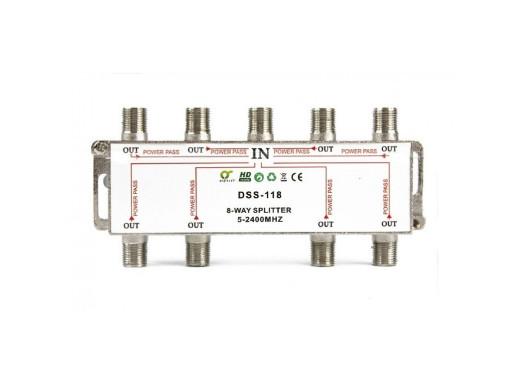 Rozgałęźnik F-sat 1/8 5-2400 DSS118 Dc pass Digits