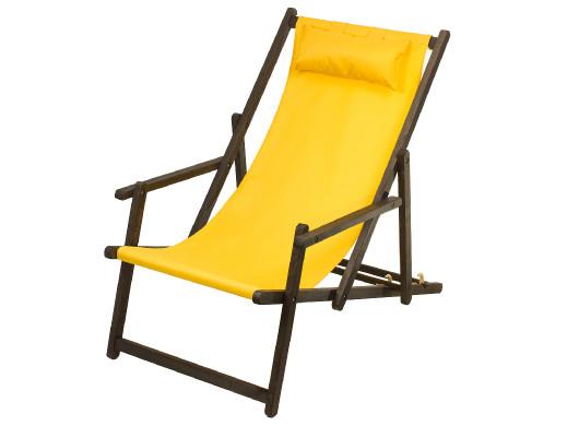 Leżak z podłokietnikiem i poduszką GreenBlue Premium GB283 złoty