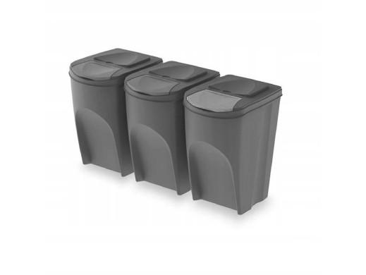 Zestaw koszy do segregacji Sortibox 3x35L szare