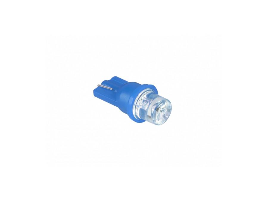 Dioda LED samochodowa 10mm 12V stożek niebieska