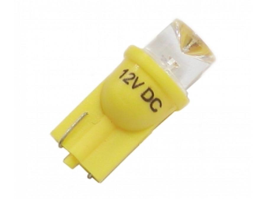 Dioda LED samochodowa 10mm 12V stożek żółta