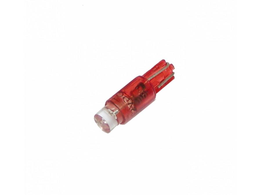 Dioda LED samochodowa T5 5mm czerwona 12V