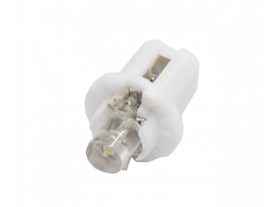 Dioda LED samochodowa 5mm biała w oprawce 12V
