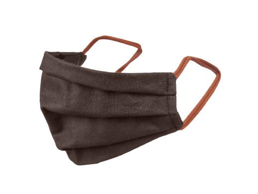 Maska dla dorosłych bawełniana dwustronna brązowa