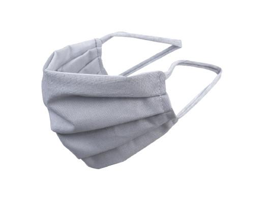 Maska dla dorosłych bawełniana dwustronna szara