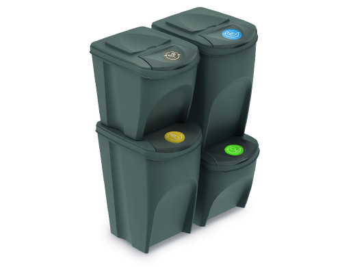 Zestaw koszy do segregacji Sortibox2x25L+2x35L szare IKWBMS4