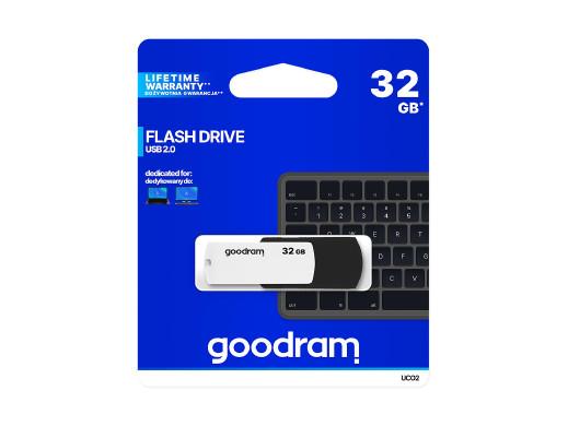 Pendrive USB 2.0 32GB czarno-biały Goodram
