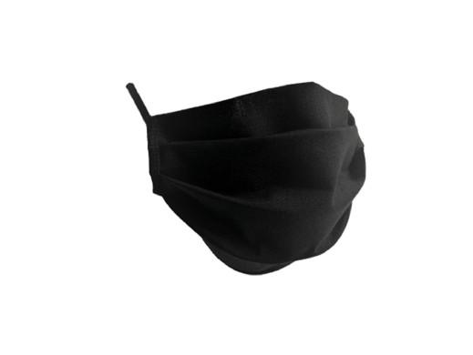Maseczka dwuwarstwowa bawełniana czarna