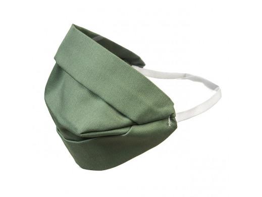 Maska dla dorosłych bawełniana dwustronna zielona