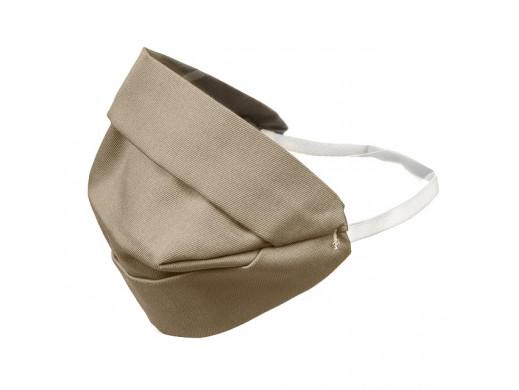 Maska dla dorosłych bawełniana dwustronna beżowa