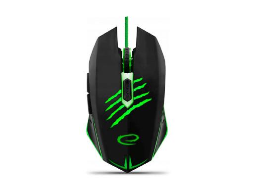 Mysz USB MX209 dla graczy Esperanza szara Claw