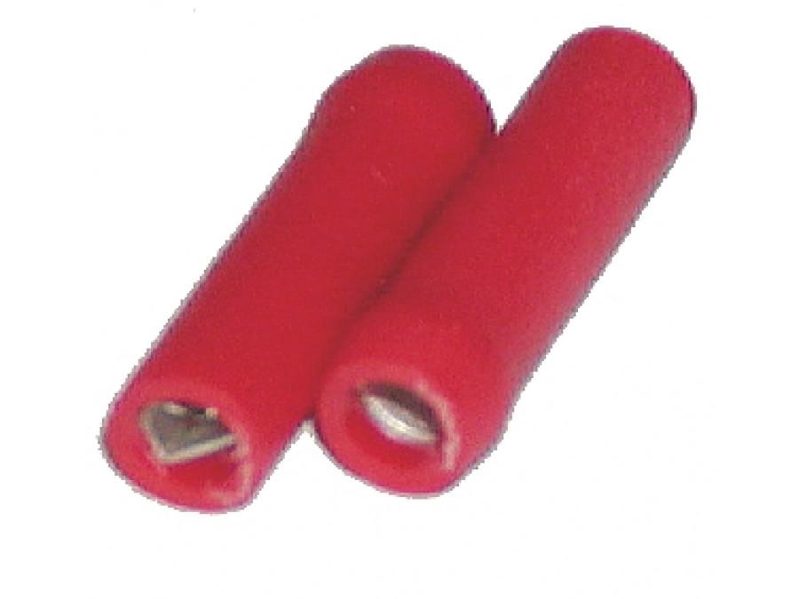 Konektor 2,8mm żeński czerwony izolowany