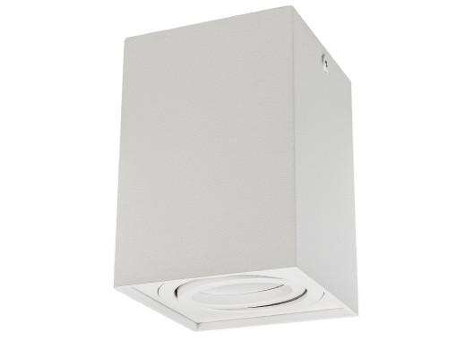 Punktowa oprawa natynkowa halogenowa  GU10 MCE426 W, kolor biały, 80x80x115mm, kwadratowa, aluminiowa