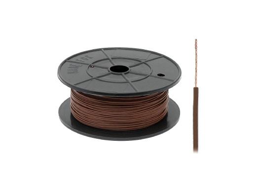 Kabel pojedyńczy 0,22mm FLRY brązowy