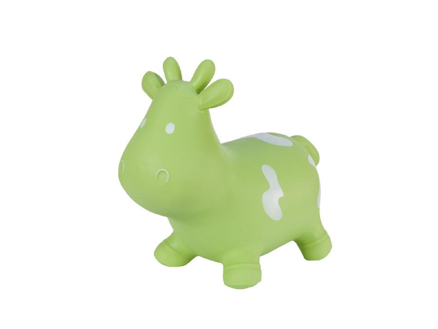Gumowy skoczek Hoppimals krówka zielona + pompka