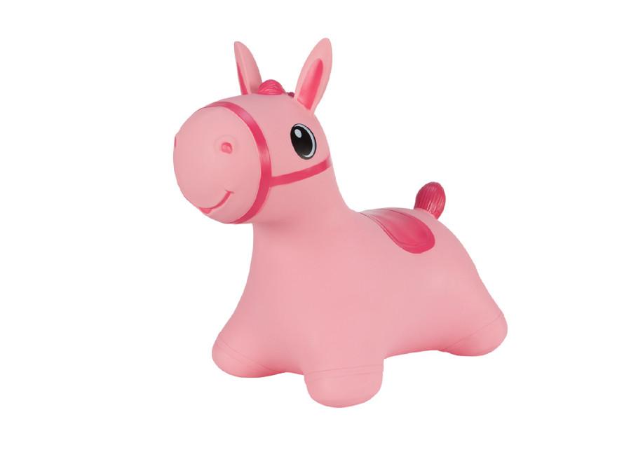 Gumowy skoczek Hoppimals konik różowy + pompka