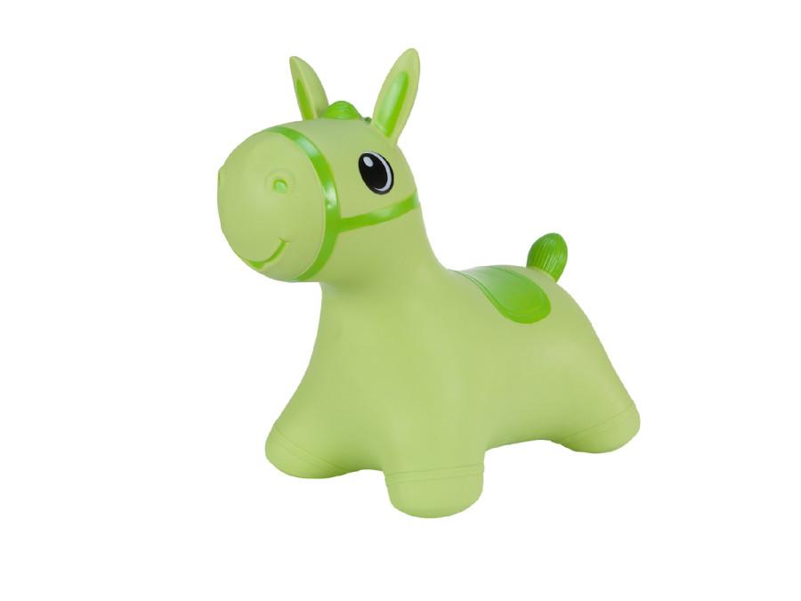 Gumowy skoczek Hoppimals konik zielony + pompka