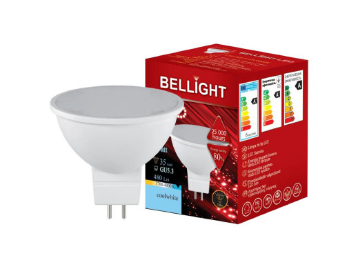 Żarówka LED GU5.3 6W 480lm 4000k natural 12V Bellight
