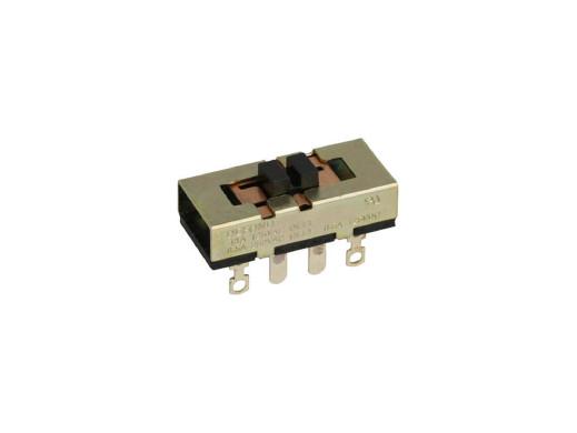 Przełącznik suwakowy 3 pozycje 8pin DSG-2316 ON-OFF-ON długość 30,3mm szerokość 13,8mm wysokość 11,21mm 8A 250V