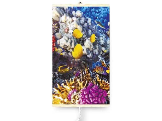 Grzejnik na podczerwień - giętki panel grzewczy 430W TRIO wzór 6 rafa koralowa, wymiary 100x57cm