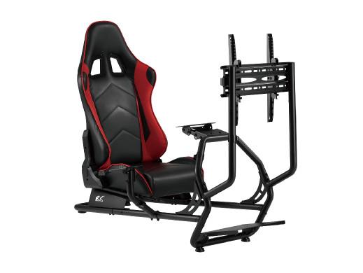 Stojak z fotelem na kierownicę wyścigową NanoRS, max 100kg, max VESA 400x400, 50 cali, RS160