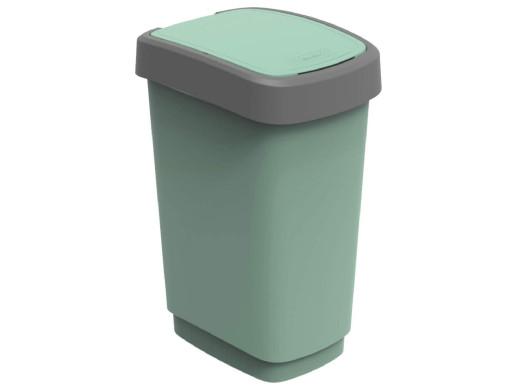 Kosz na śmieci swing Rotho Twist ECO 25L zielony