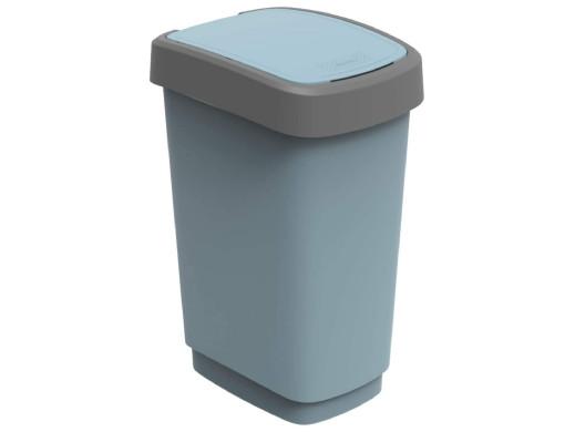Kosz na śmieci swing Rotho Twist ECO 25L niebieski