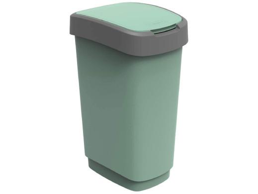 Kosz na śmieci swing Rotho Twist ECO 50L zielony