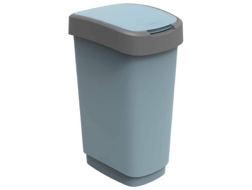 Kosz na śmieci swing Rotho Twist ECO 50L niebieski