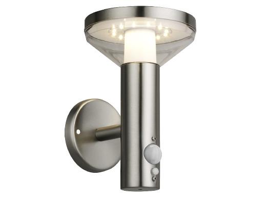 Kinkiet Maclean, Solarny LED z czujnikiem, 3 tryby świecenia, C/M - chrom matt, IP44, Bateria Li-ion 18650, 3.7V, 1200 mAh, MCE4